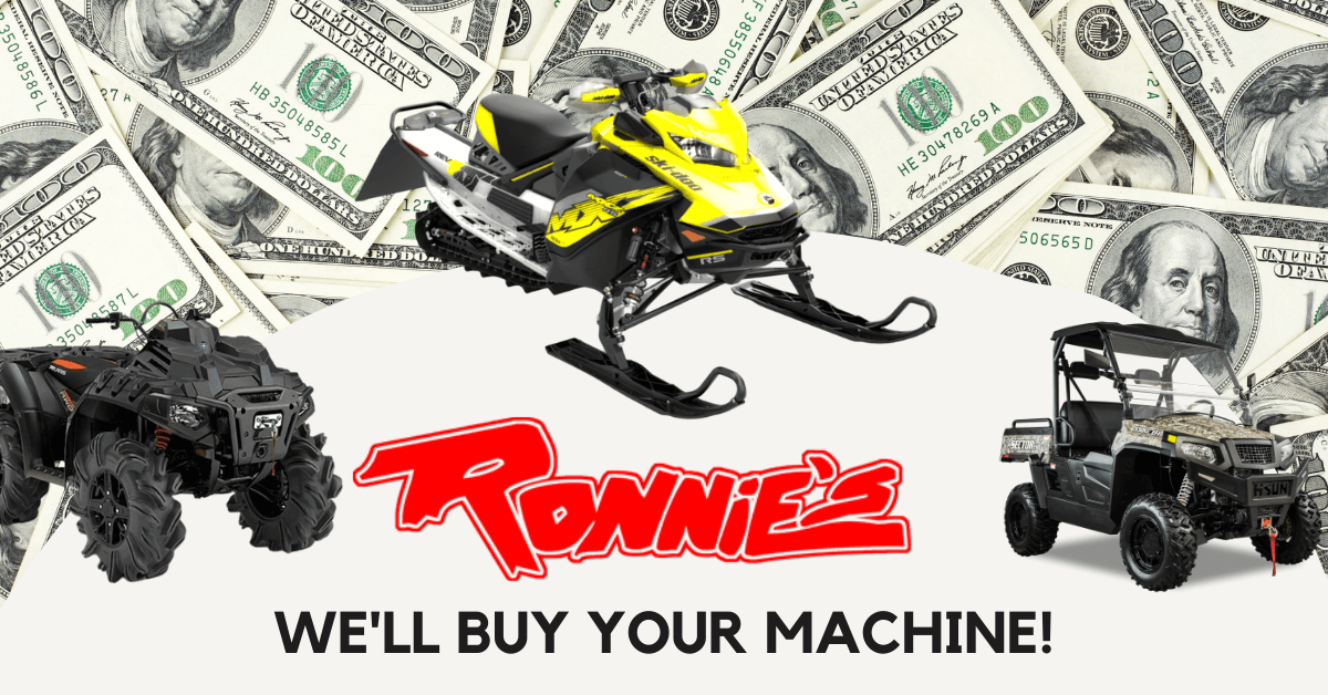 Ronnie's will buy your machine!